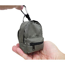 Fashion German WWII Field Grey Color Mini Backpack