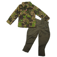1:6 Scale German WWII Field-made Camo Field Blouse +Officer Riding Trouser