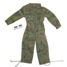 "1:6 Scale German WWII SS Camo Combination Suit ""KOMBI"" with Camo Rank Sleeve Patch"
