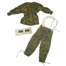 1:6 Scale German WWII M42 Type II Blurred Edge Smock  and Parka Camo Trouser with Camo Rank Patch