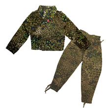 1:6 Scale German WWII HBT Dark Pea Dot Pattern Tunic and M44 Trouser