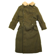 1:6 Scale German WWII Commander Winter Fur (Sand) Trench Greatcoat