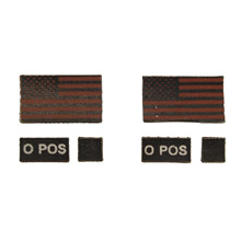 1:6 Scale BS PMC Flag & Blood Type Patch Set