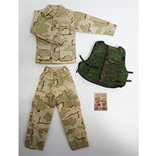 1:6 Scale U.S. Modern Desert Camo BDU Battle Sets with Patches set (Generic Version)