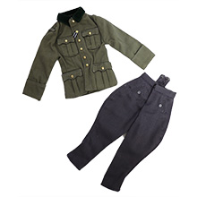 1:6 Scale German WWII Waffen-SS Officer Tunic (Generalleutnat) Office Trousers