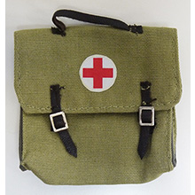 1:6 Scale German WWII Large Medical bag with First Aid Red Cross Patch
