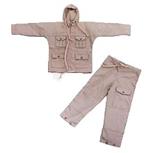 1:6 Scale British WWII SAS Windproof Sand Desert Smock & Trouser with draw-tape waist (New Color)
