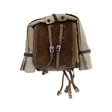 1:6 Scale German WWII Army Pony Fur Tournister Back Pack Set with Poncho