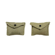 1:6 Scale U.S. WWII M1924 First Aid Pouch Assorted 2 colors (6pcs)