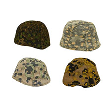 1:6 Scale German WWII Helmet Cover Assorted 4 Camo Collection #2