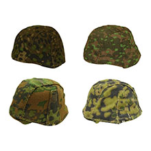 1:6 Scale German WWII Helmet Cover Assorted 4 Camo Collection #3