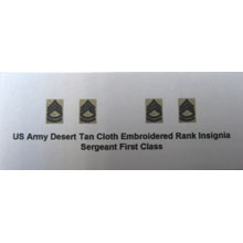 US Army Desert Tan Cloth Embroidered Rank Insignia Sergeant First Class